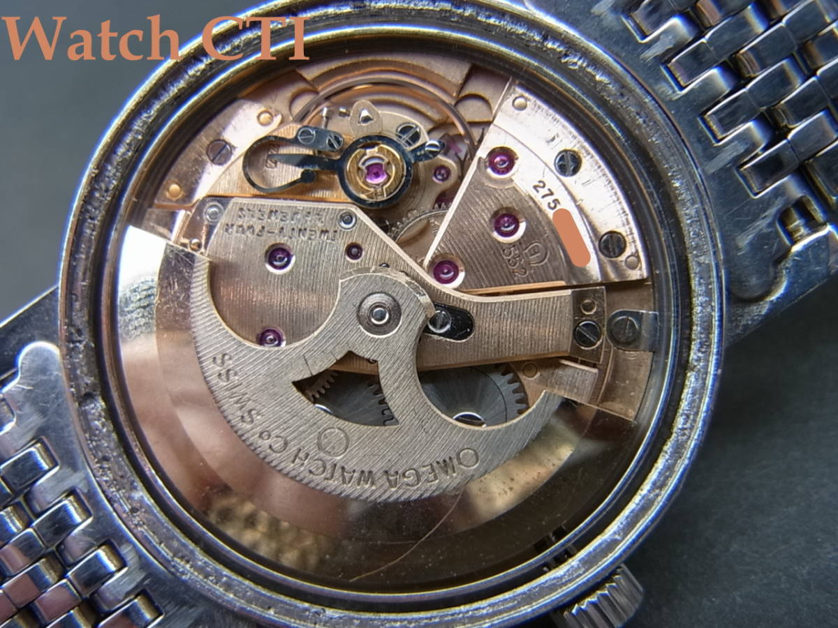 Ω オメガOMEGA ジュネーヴGeneve C552オートマチック オールブレゲ数字 純正ブレス付 管理番号S2228_画像8
