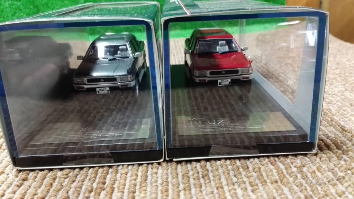 Hi -story  ハイストーリー インターアライド レジンモデル 1/43 TOYOTA HILUX 4WD PICK UP SSR -X グレー レッド2台セット_画像2