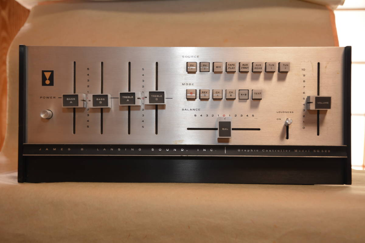 JBL / SG520 / ステレオコントロールアンプ ・ジャンク扱い