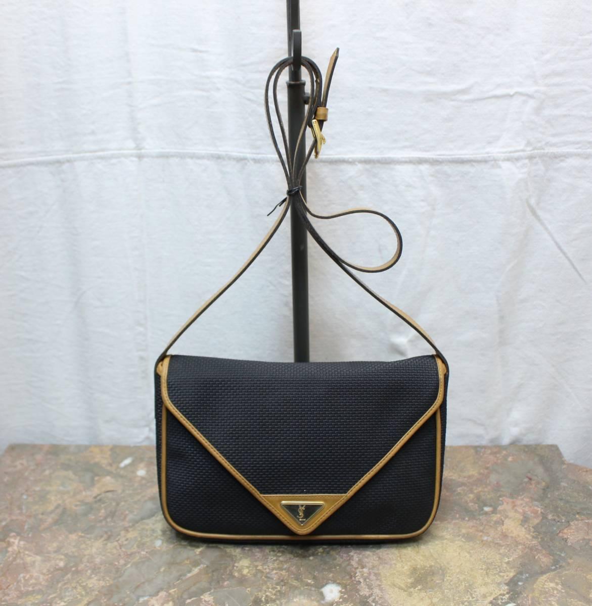 7401a037d6ec5 OLD YVES SAINT LAURENT LOGO SHOULDER BAG MADE IN FRANCE  Old Yves Saint- Laurent Logo shoulder bag