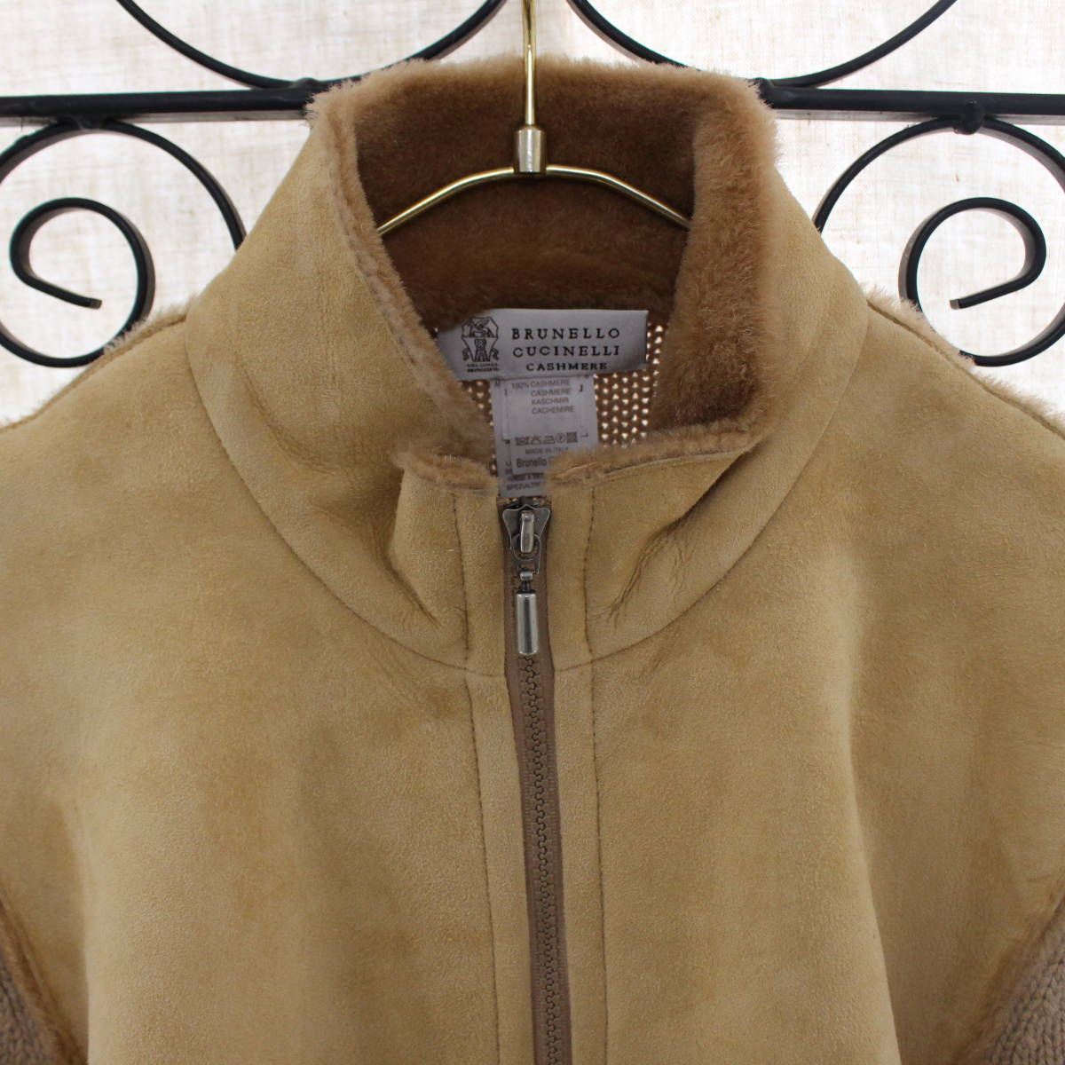 BRUNELLO CUCINELLI CASHMERE MOUTON JACKET MADE IN ITALY/ブルネロクチネリカシミヤムートンジャケット_画像3