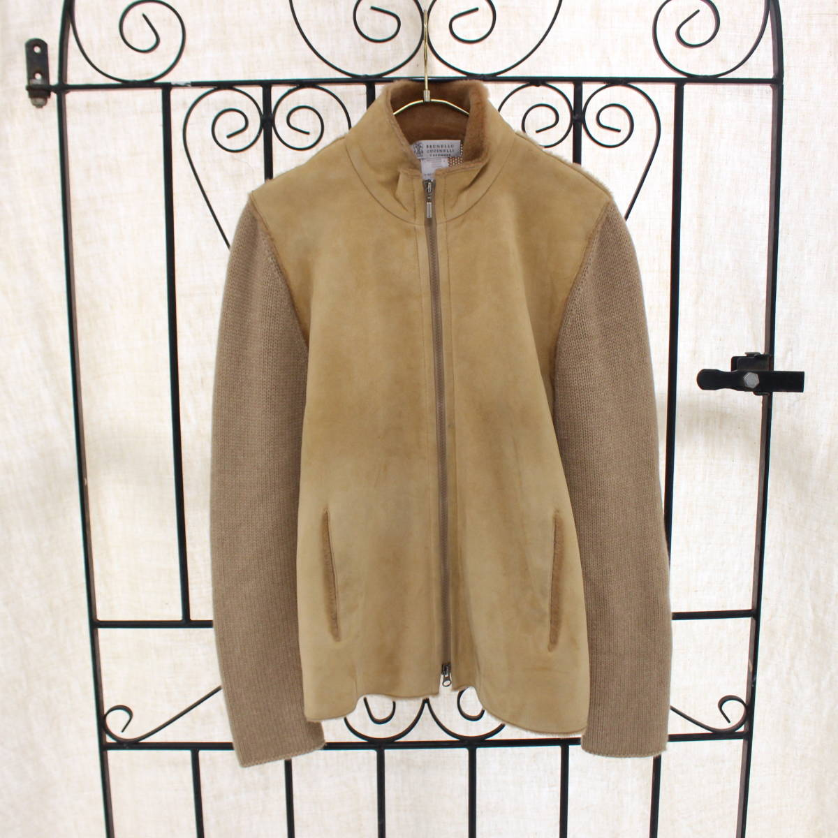 BRUNELLO CUCINELLI CASHMERE MOUTON JACKET MADE IN ITALY/ブルネロクチネリカシミヤムートンジャケット_画像1