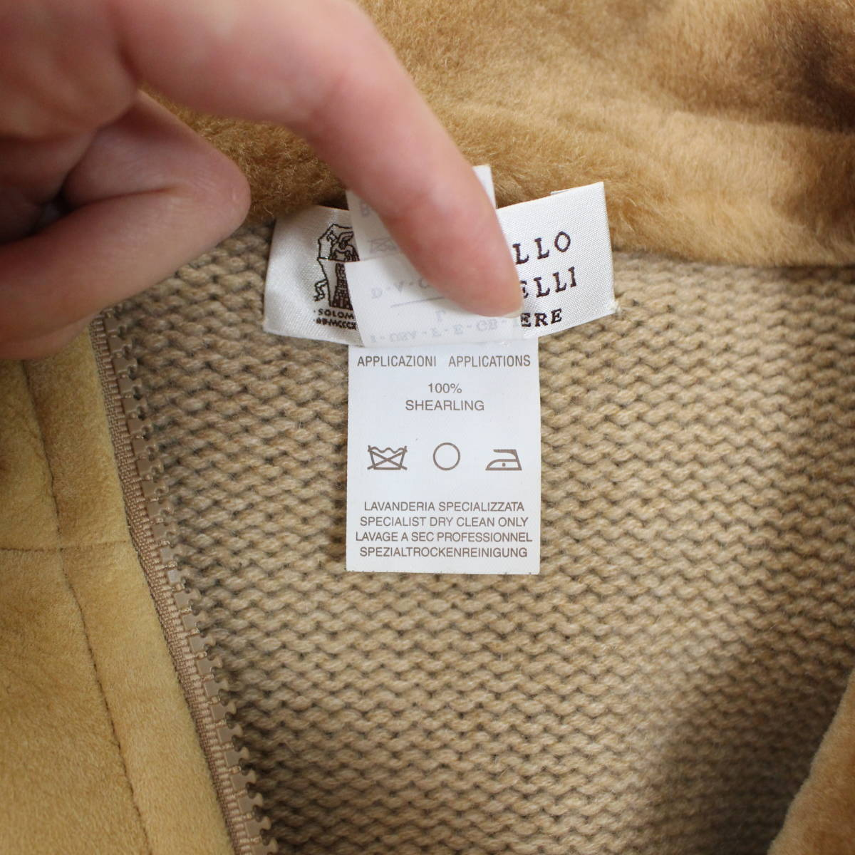 BRUNELLO CUCINELLI CASHMERE MOUTON JACKET MADE IN ITALY/ブルネロクチネリカシミヤムートンジャケット_画像9