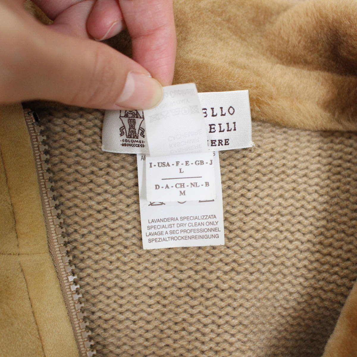 BRUNELLO CUCINELLI CASHMERE MOUTON JACKET MADE IN ITALY/ブルネロクチネリカシミヤムートンジャケット_画像8