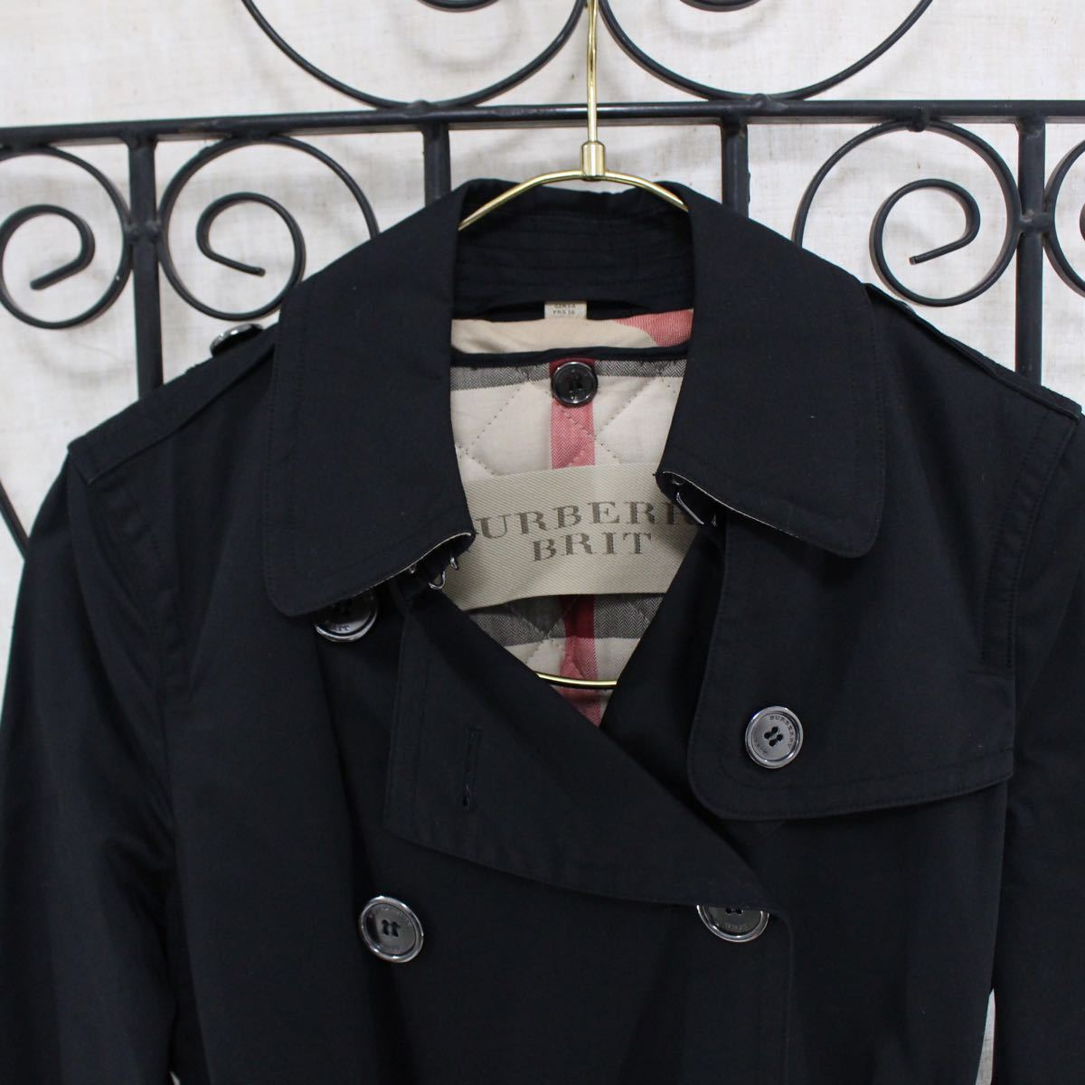 BURBERRY BRIT TRENCH COAT WITH QUILTING LINER MADE IN CHINA/バーバリーブリットキルティングライナー付トレンチコート_画像3