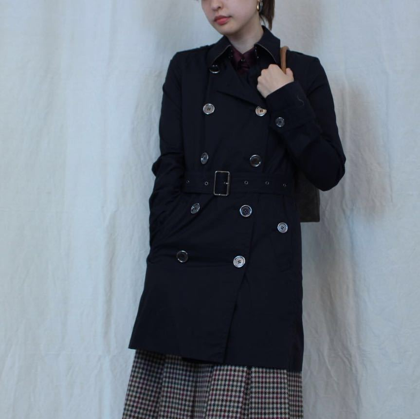 BURBERRY BRIT TRENCH COAT WITH QUILTING LINER MADE IN CHINA/バーバリーブリットキルティングライナー付トレンチコート_画像8