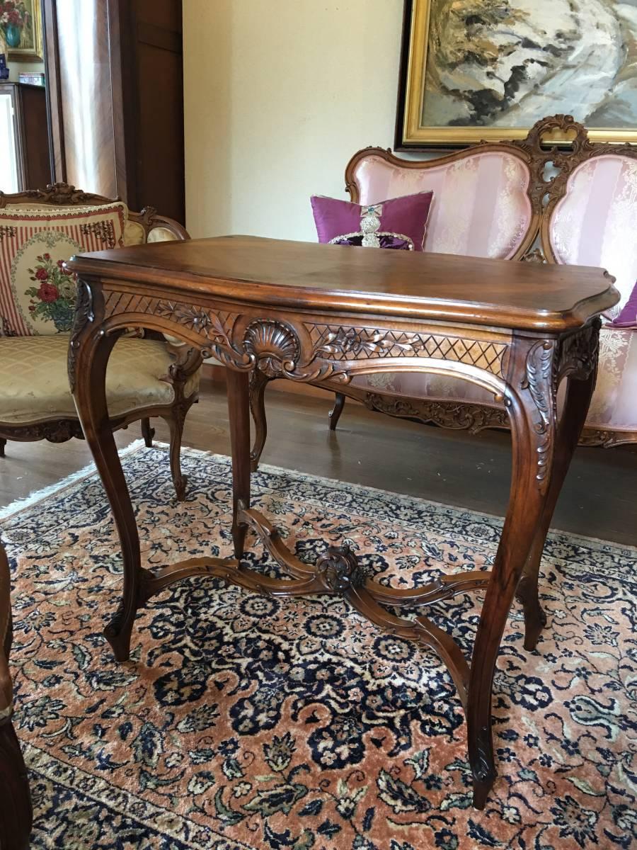 フランスアンティーク テーブル サロンテーブル ティーテーブル ルイ15世
