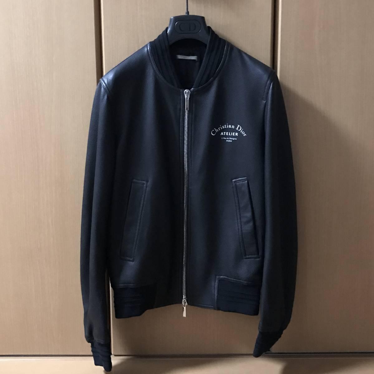 ディオールオムラムレザーライダースジャケット。正規店購入新品未使用品。付属品全完備