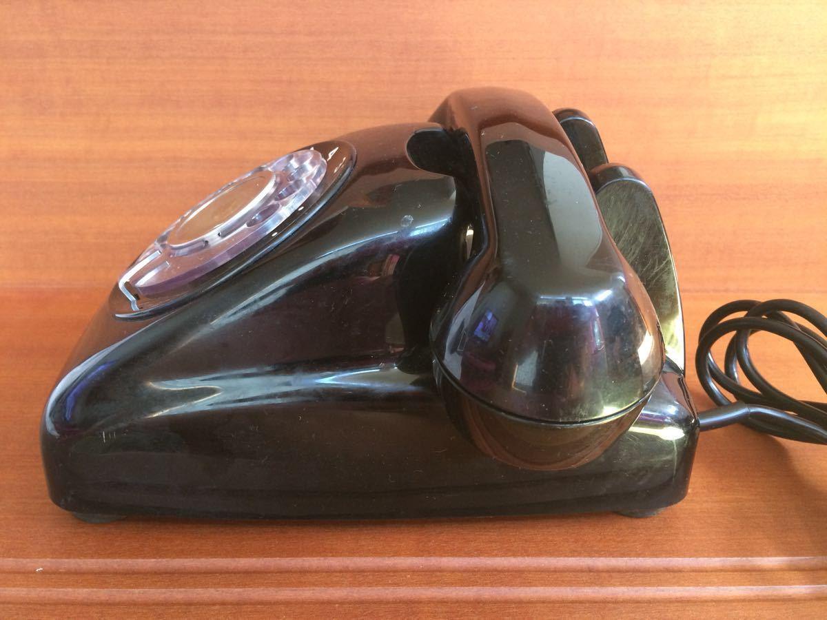 美品 中古 すぐ使用可能 動作通話良好 昭和レトロ アンティーク 電話機 黒電話 ダイヤル式 600-A1 電電公社 NTT_画像3