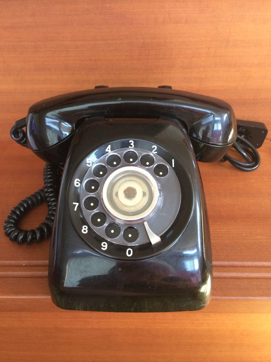 美品 中古 すぐ使用可能 動作通話良好 昭和レトロ アンティーク 電話機 黒電話 ダイヤル式 600-A1 電電公社 NTT_画像2