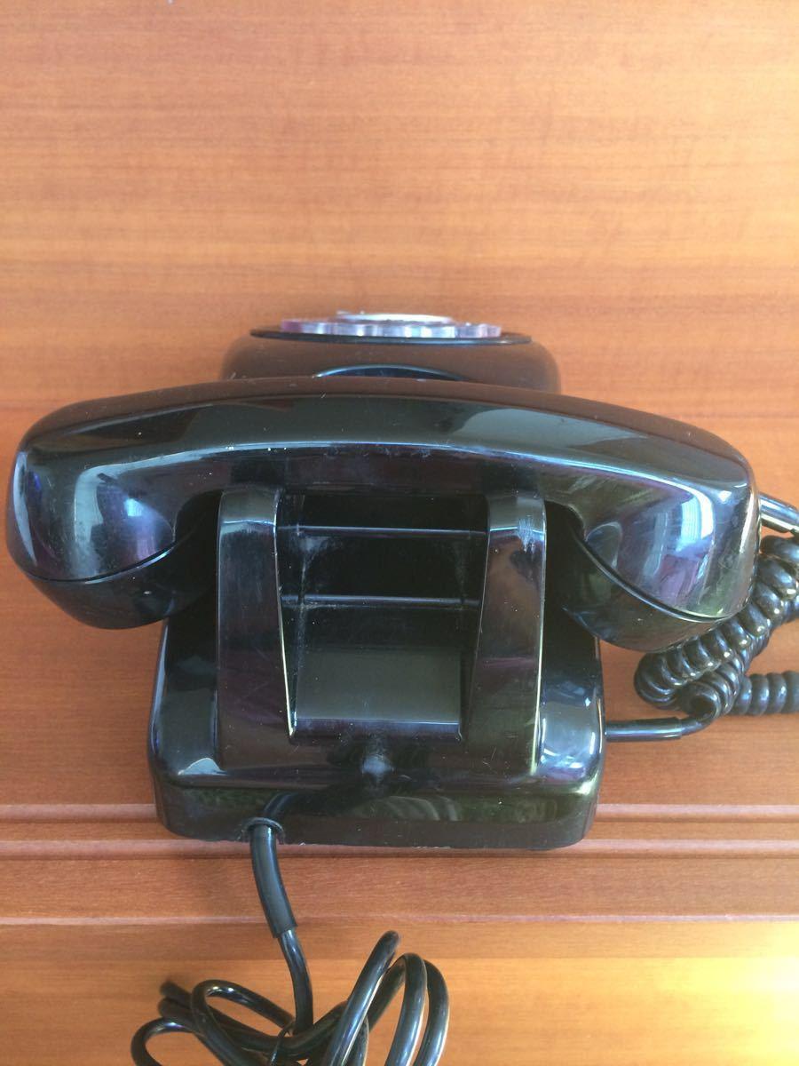 美品 中古 すぐ使用可能 動作通話良好 昭和レトロ アンティーク 電話機 黒電話 ダイヤル式 600-A1 電電公社 NTT_画像4