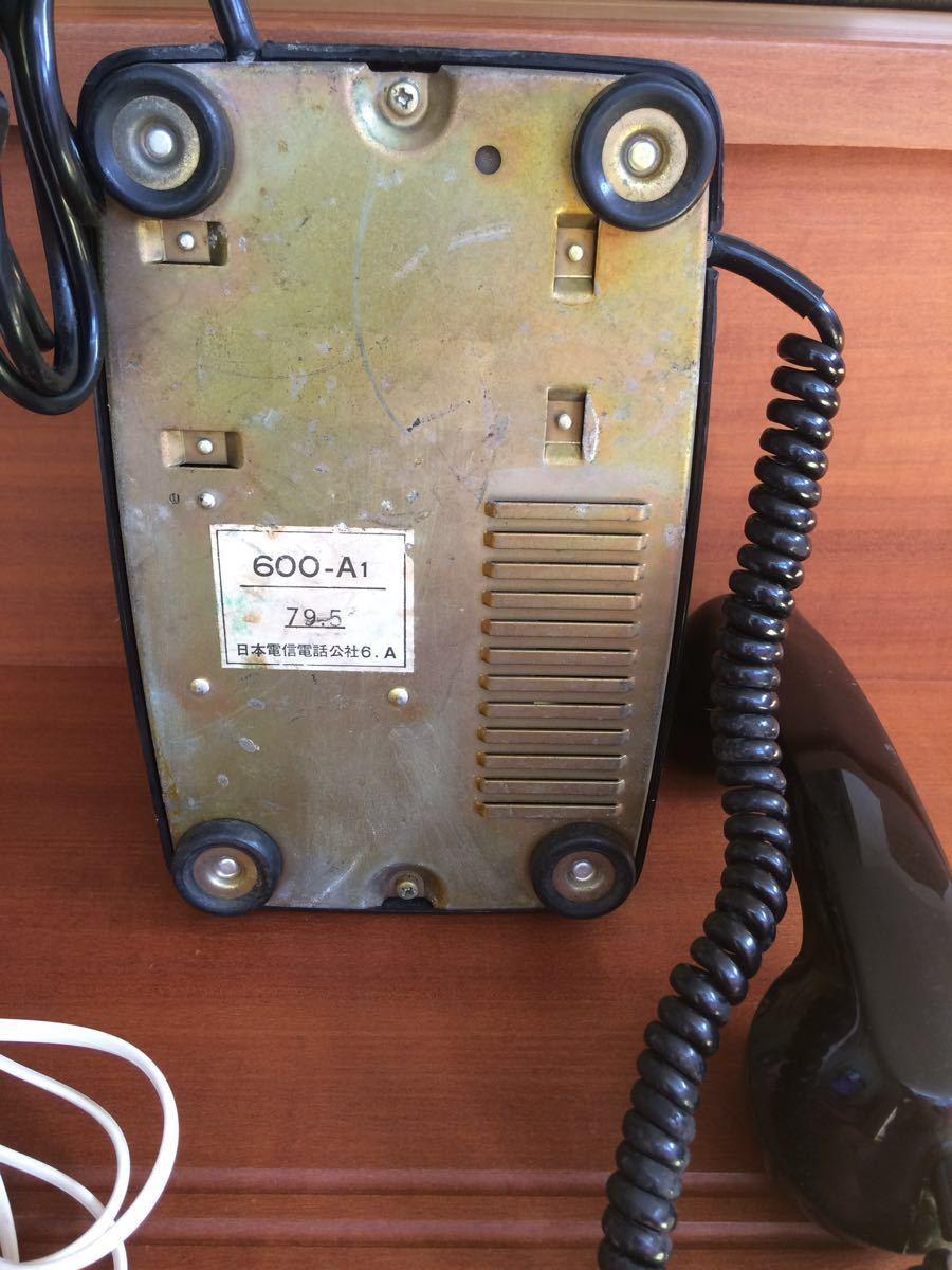 美品 中古 すぐ使用可能 動作通話良好 昭和レトロ アンティーク 電話機 黒電話 ダイヤル式 600-A1 電電公社 NTT_画像6