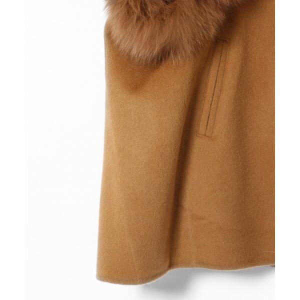 ☆全新未使用標籤格雷斯大陸狐狸毛皮大衣雨披180真皮大衣價格85320日元駱駝色☆ 編號:e306497434