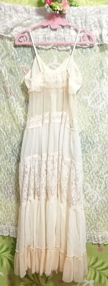 dazzlin ダズリン フローラルホワイトシースルーマキシワンピース/ネグリジェ/羽織 Floral white ivory see through maxi dress/negligee_画像5