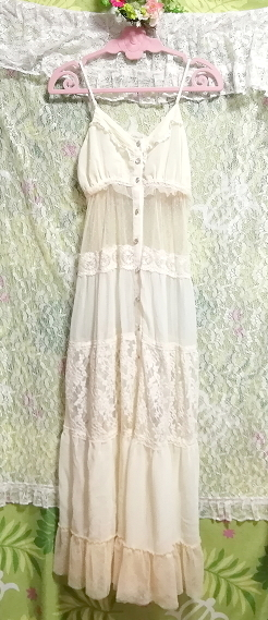 dazzlin ダズリン フローラルホワイトシースルーマキシワンピース/ネグリジェ/羽織 Floral white ivory see through maxi dress/negligee_画像4