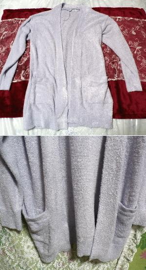 ベトナム製紫カーディガン/コート/羽織 Vietnam purple cardigan/coat_画像3