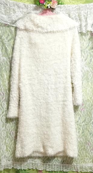 白ホワイトふわふわワンピース長袖大きめ100cmロングセーター/ニット/トップス White fluffy onepiece long sleeve large sweater/knit_画像3