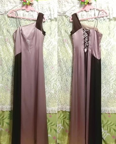 グレーブラウンイブニングパーティロングドレスマキシワンピース日本製 Gray brown evening party long dress maxi onepiece made in Japan_画像7