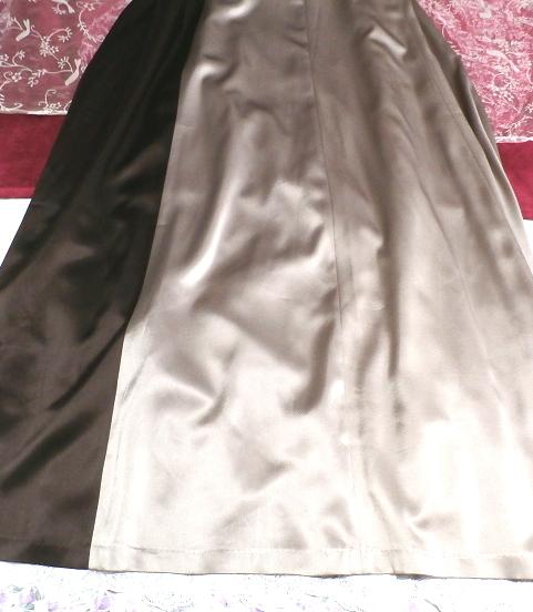 グレーブラウンイブニングパーティロングドレスマキシワンピース日本製 Gray brown evening party long dress maxi onepiece made in Japan_画像5