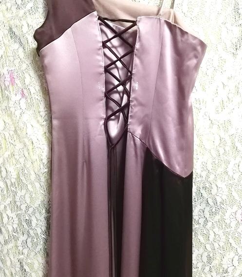 グレーブラウンイブニングパーティロングドレスマキシワンピース日本製 Gray brown evening party long dress maxi onepiece made in Japan_画像8
