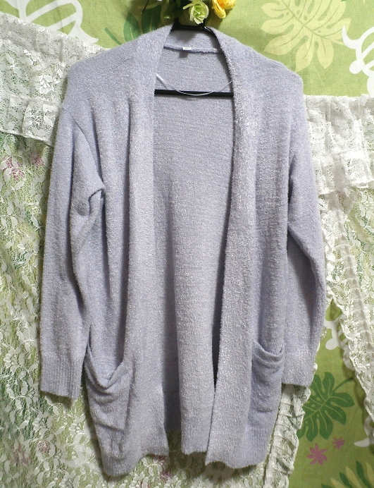 ベトナム製紫カーディガン/コート/羽織 Vietnam purple cardigan/coat_画像1