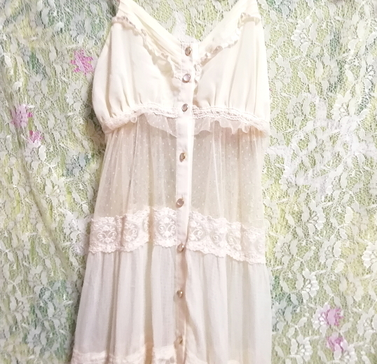dazzlin ダズリン フローラルホワイトシースルーマキシワンピース/ネグリジェ/羽織 Floral white ivory see through maxi dress/negligee_画像6
