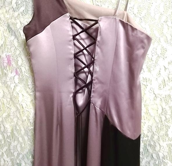 グレーブラウンイブニングパーティロングドレスマキシワンピース日本製 Gray brown evening party long dress maxi onepiece made in Japan_画像9