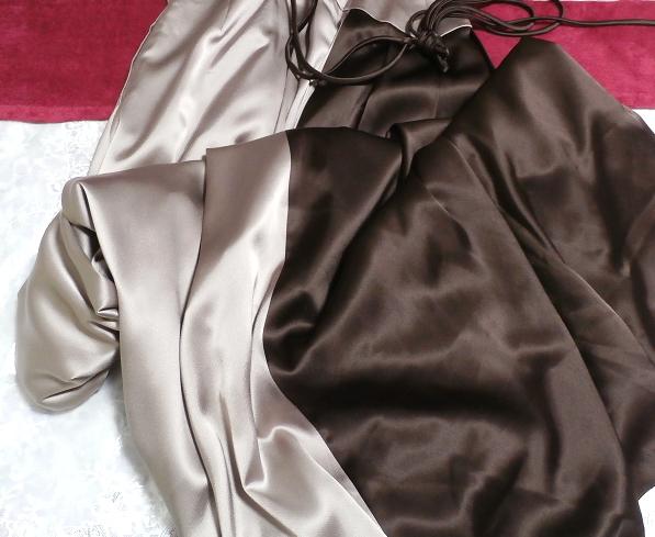 グレーブラウンイブニングパーティロングドレスマキシワンピース日本製 Gray brown evening party long dress maxi onepiece made in Japan_画像2