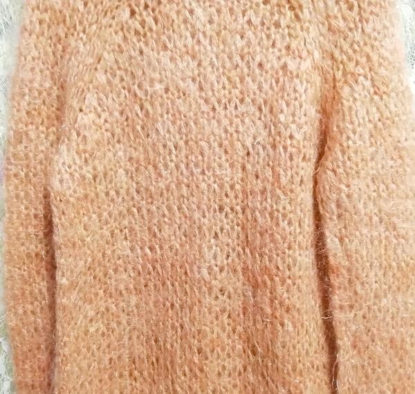 オレンジふわふわモヘア長袖セーター/ニット/トップス Orange fluffy mohair long sleeve sweater/knit/tops_画像5