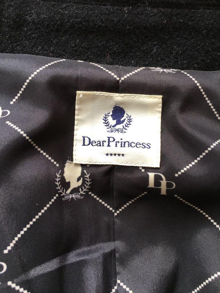 ディア プリンセス Dear Princess 黒 コート 上品 カシミヤ混 ベルト付き レディース アウター *_画像7