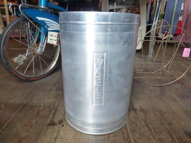 ビンテージ ゴミ箱 トラッシュカン vintage アルミ製 WASTE アメリカ アンティーク TRASH CAN ヴィンテージ USA 50'S 60'S アメリカ製