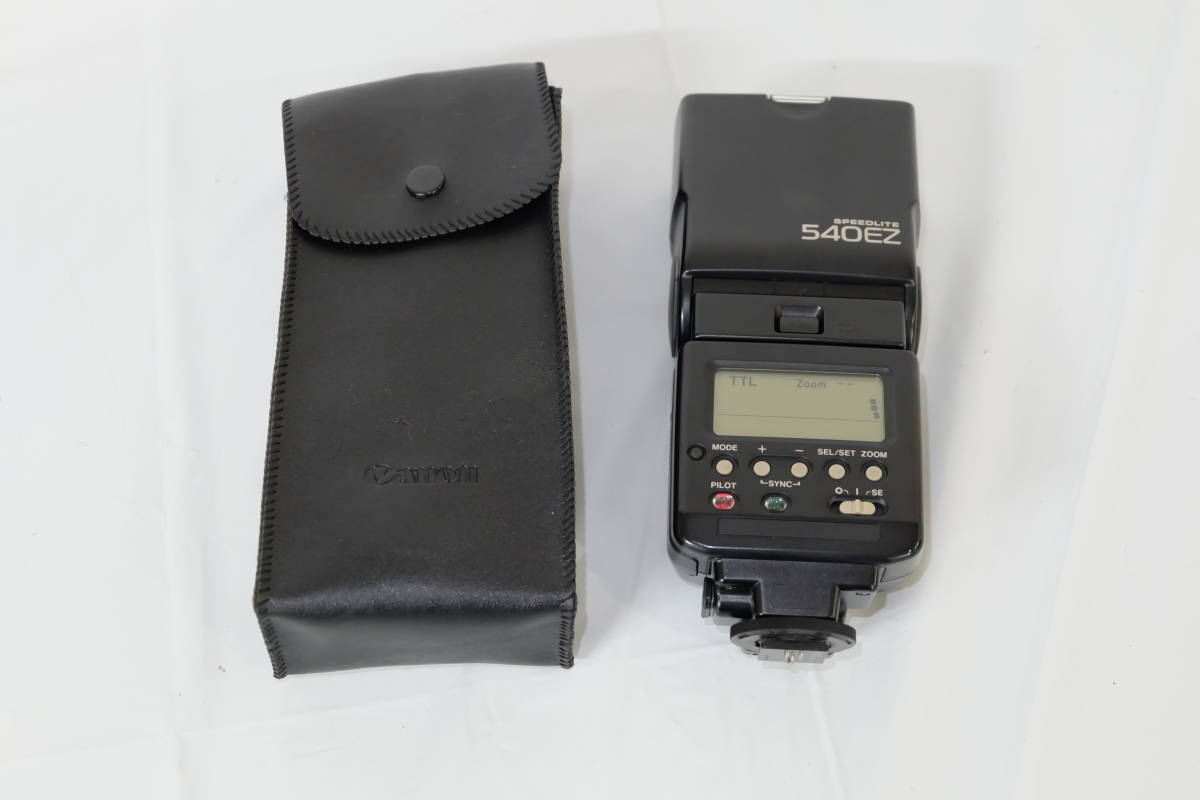 [10/5/003]キャノン 540EZ スピードライト カメラ ストロボ フラッシュ 動作品 CANONレトロ