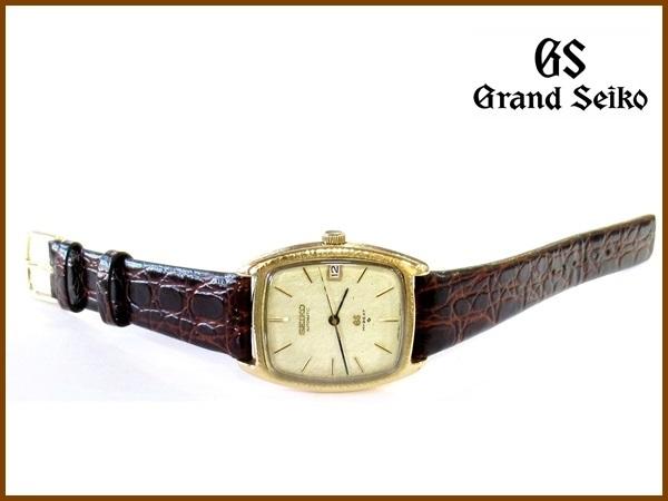 【K18】GRAND SEIKO◆5645-5000◆56GS 金無垢彫金角型 Vintage グランド セイコー_画像6