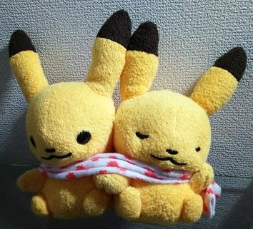 ポケモンセンターオリジナル ピカチュウペアぬいぐるみ Pokemon little tales [muffler]