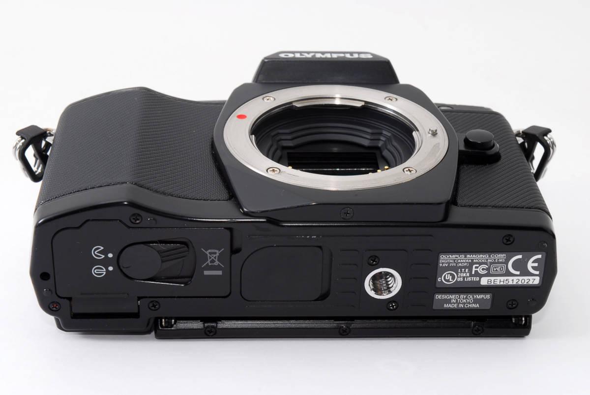 [最好的商品]奧林巴斯OLYMPUS OM  -  D E  -  M5機身黑色16050萬像素原盒·新品SD卡包括■半年退貨保證■#y15z 26 oc 641 編號:n304622586