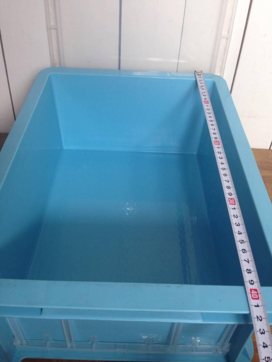 サンコー サンボックス#14-2B ライトブルー 5個セット コンテナボックス フタ付き カード差し134型 片面付 業務用道具箱 ツールボックス_画像8