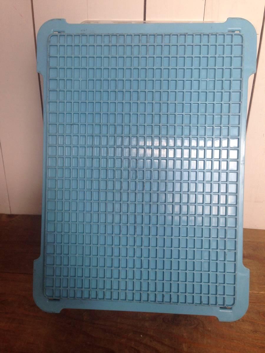 サンコー サンボックス#14-2B ライトブルー 5個セット コンテナボックス フタ付き カード差し134型 片面付 業務用道具箱 ツールボックス_画像10