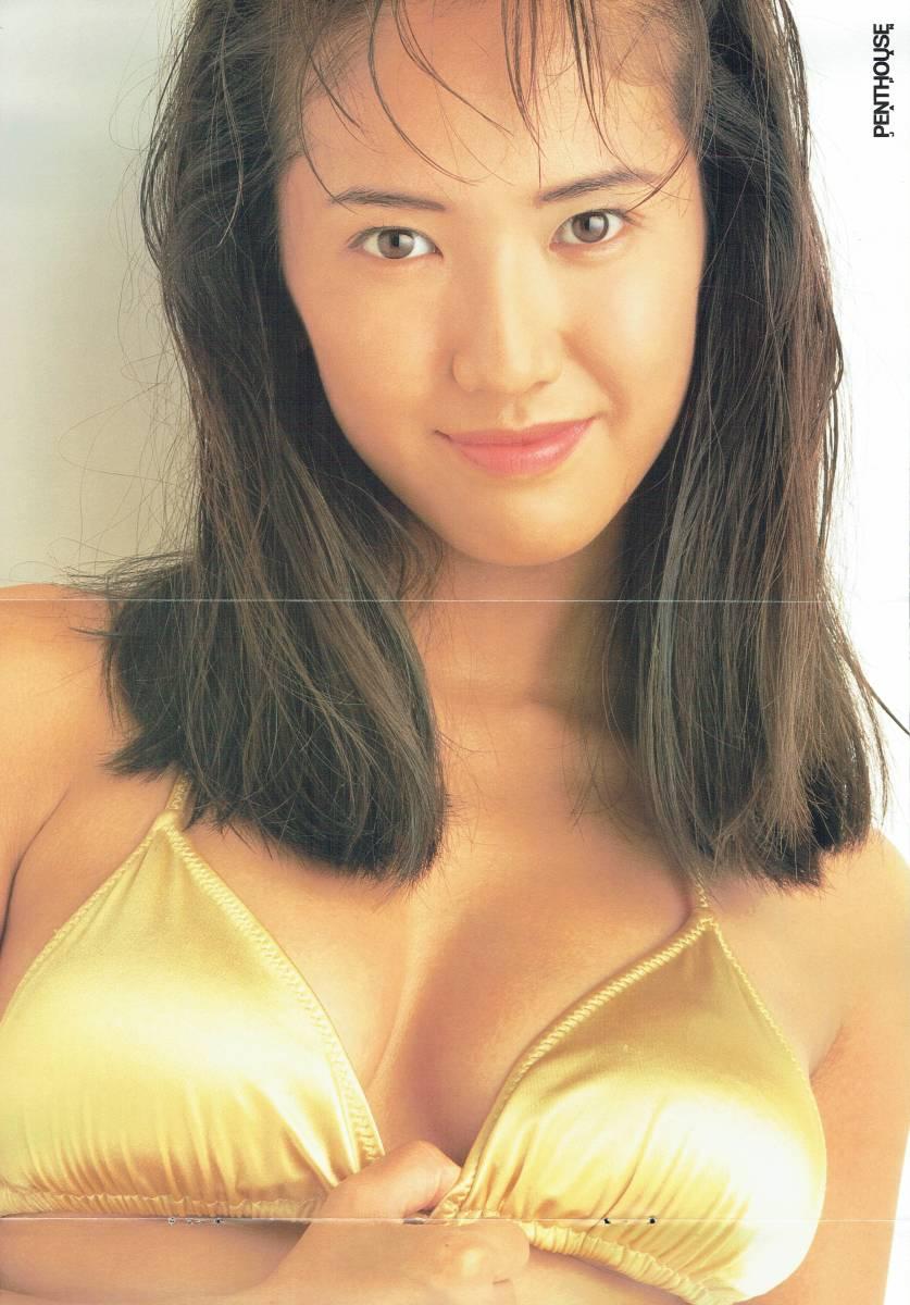 坂木優子画像 坂木優子 実物大ピンナップ ポスター 写真・萩庭桂太 1995年 ぶんか社