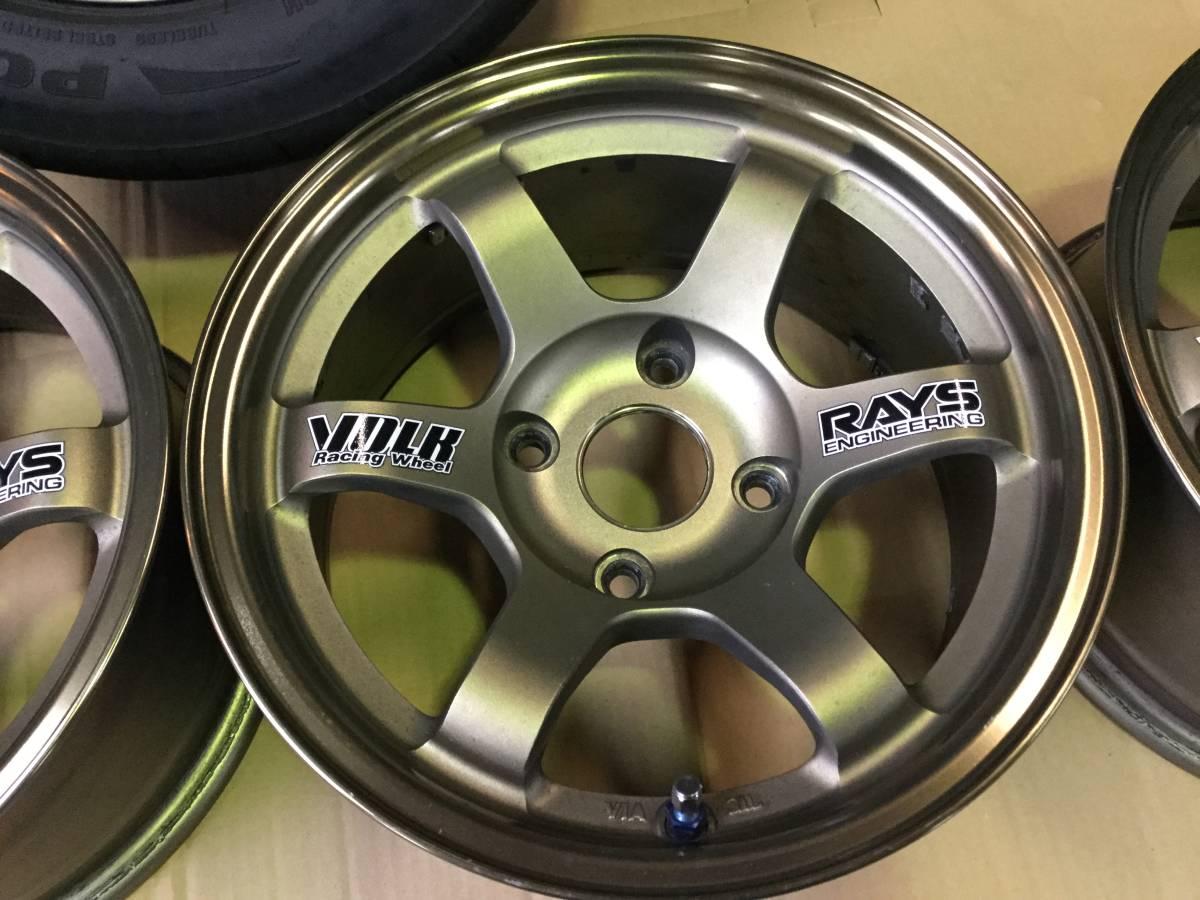 VOLK TE37☆PCD 114.3 6.5 J + 0 AE86青銅超輕量級AE86備胎輪附件! 編號:g307718398