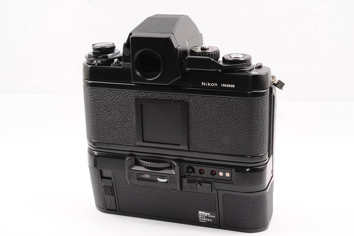 【極上品】 ニコン エフスリー エイチピー Nikon F3 HP ボディ - ブラック + モータードライブ (MD-4) MF 一眼レフ [1943406] _画像2