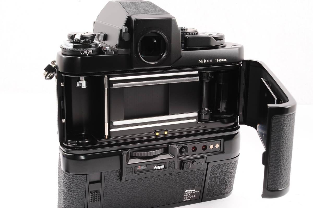 【極上品】 ニコン エフスリー エイチピー Nikon F3 HP ボディ - ブラック + モータードライブ (MD-4) MF 一眼レフ [1943406] _画像3