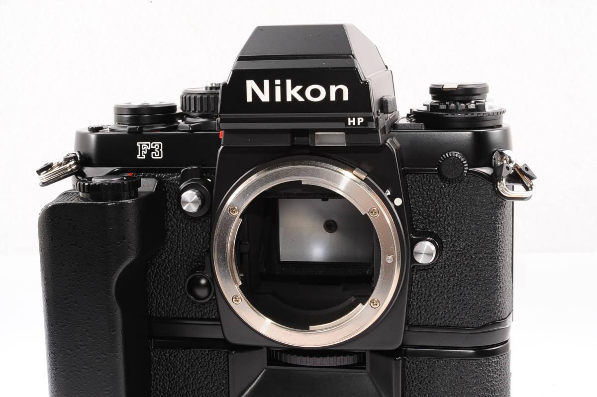 【極上品】 ニコン エフスリー エイチピー Nikon F3 HP ボディ - ブラック + モータードライブ (MD-4) MF 一眼レフ [1943406] _画像4