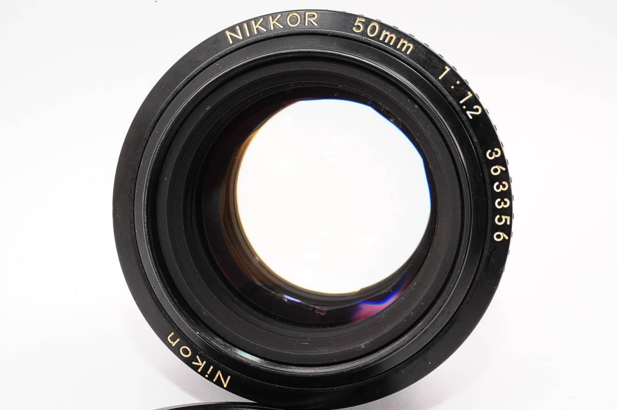 【良品】 ニコン エーアイエス ニッコール Nikon Ai-S NIKKOR 50mm F1.2 MF 一眼レンズ [363356] _画像2