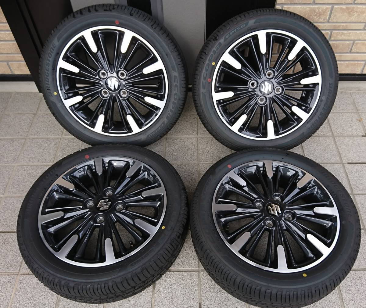 新車拆除MK 53 S Spacia Custom Genuine Wheel,4輪胎組4.5 J Inset 45 EP150 165/55 / R 15 2018 36週製造車R Hustler 編號:f308417381