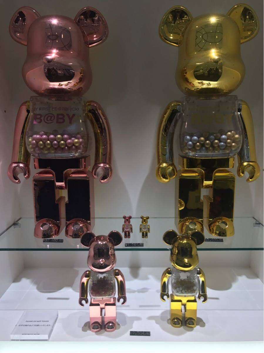 千秋 MY FIRST BE@RBRICK B@BY GOLD & SILVER Ver./PINK & GOLD Ver 1000% 2体セット