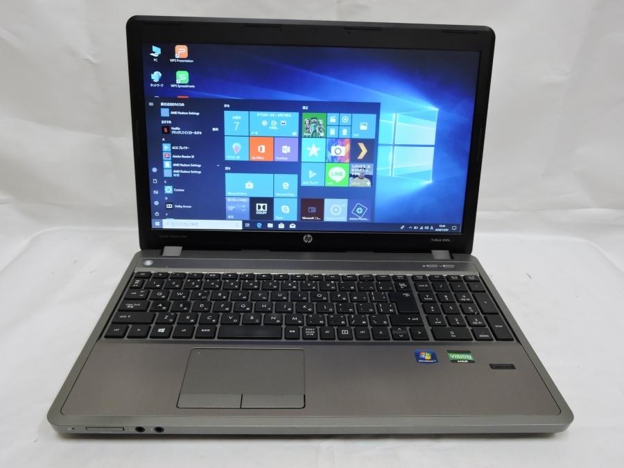即日発送可 良品 15.6型 HP Probook 4545s Win10 64 Pro/AMD A4-4300M/4G/320G/無線/KingSoft office 2016 税無 中古PC