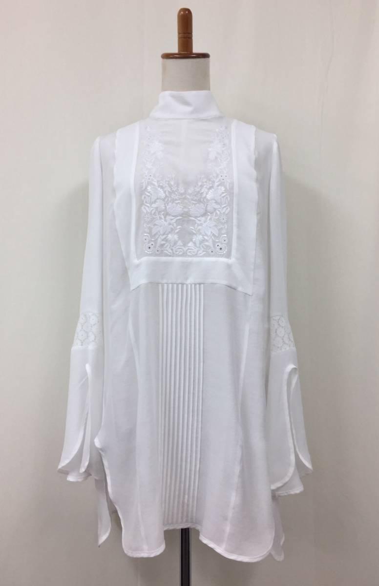 [新文章] Mame(豆)★Haineck刺繡上衣★尺寸2★白色★免費送貨 編號:f307564499