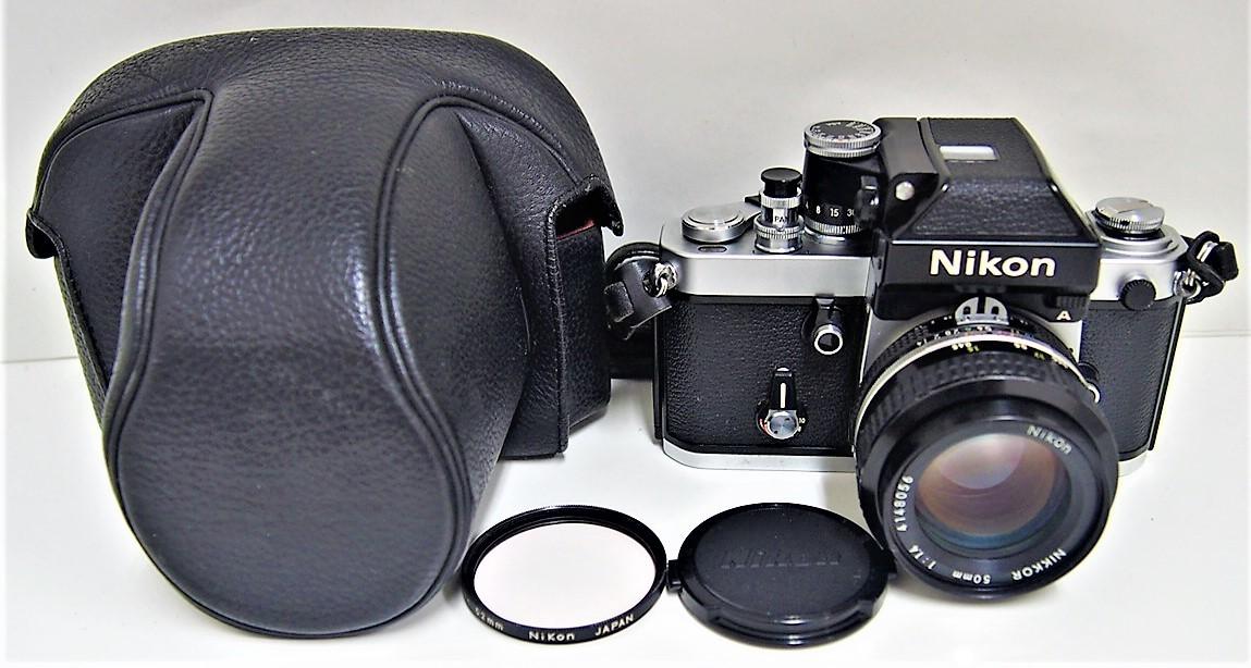 9★ ニコン Nikon F2 フォトミック A レンズ Nikon NIKKOR 50mm 1:1.4 レンズフィルター L1Bc 52mm 前部レンズキャップ ストラップ付き
