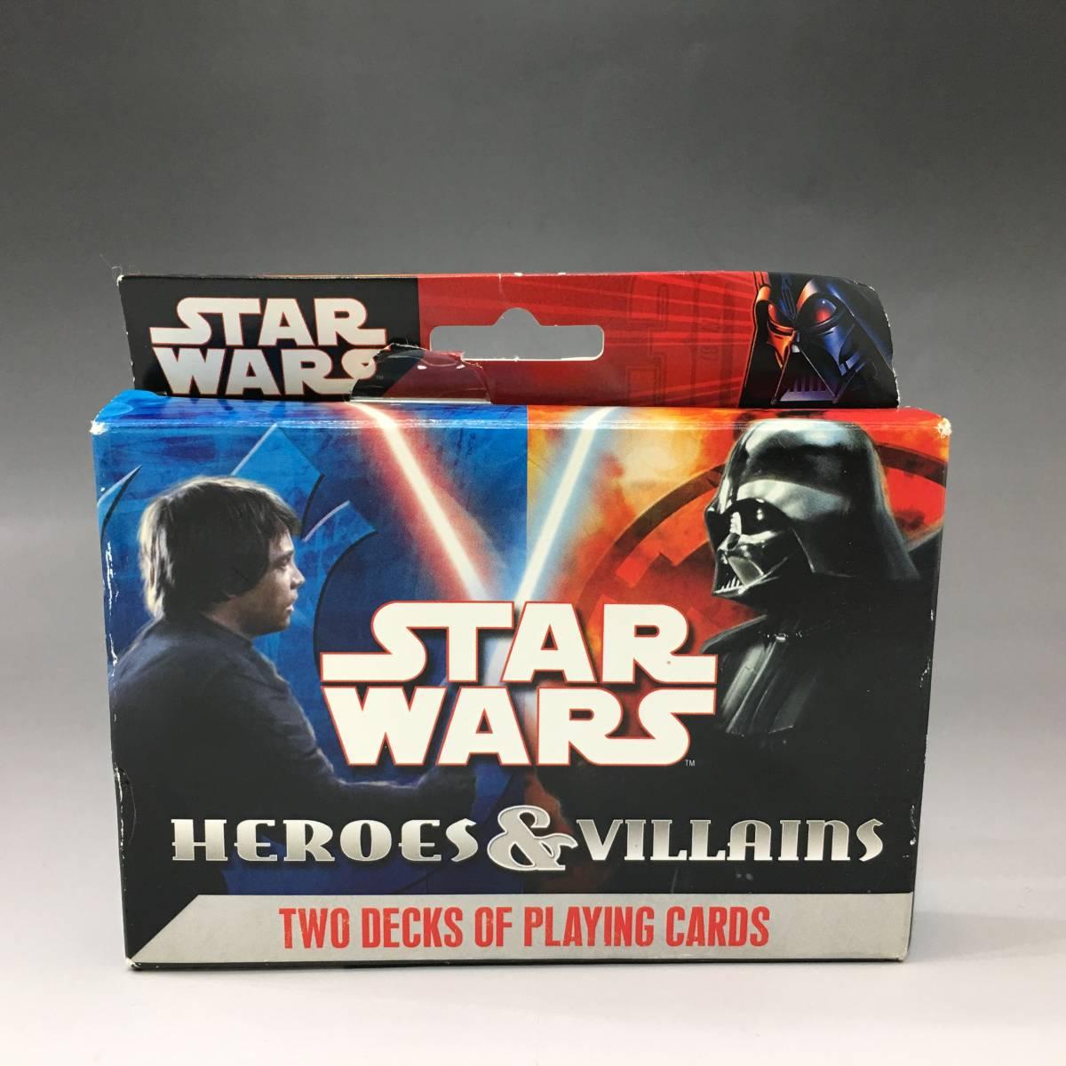 Tb10/31/09 【未使用品】 スターウォーズ プレイングカード HEROES&VILLAINS 2デッキセット トランプ カードゲーム_画像2