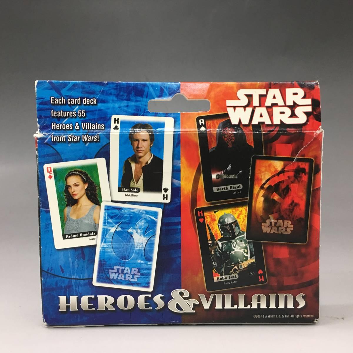 Tb10/31/09 【未使用品】 スターウォーズ プレイングカード HEROES&VILLAINS 2デッキセット トランプ カードゲーム_画像3